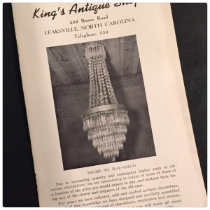 Cover of the first catalog from King's Chandelier