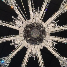 different view of crystal chandelier