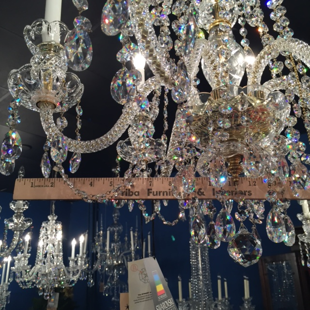 How to measure the width of a chandelier.