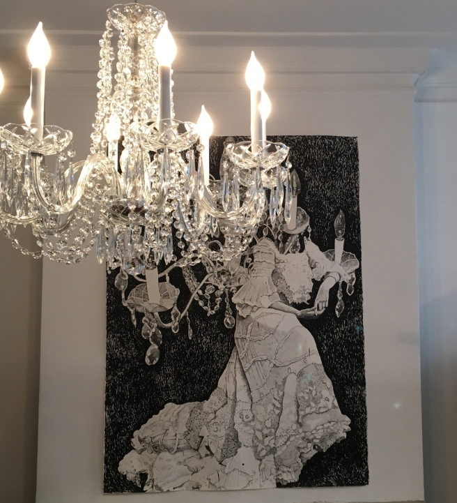 Chandelier and Dress installed.jpg